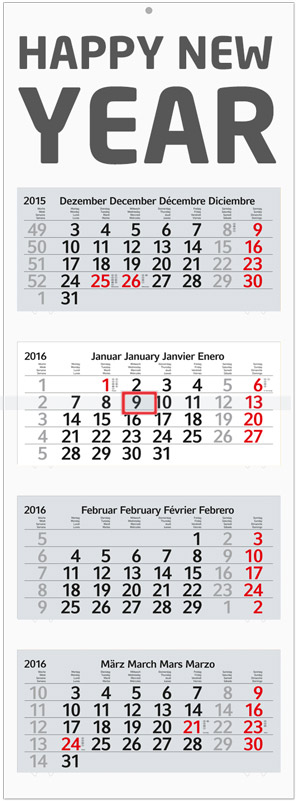 4-Monats-Blockkalender Profil 4 (Recycling)_sample_1
