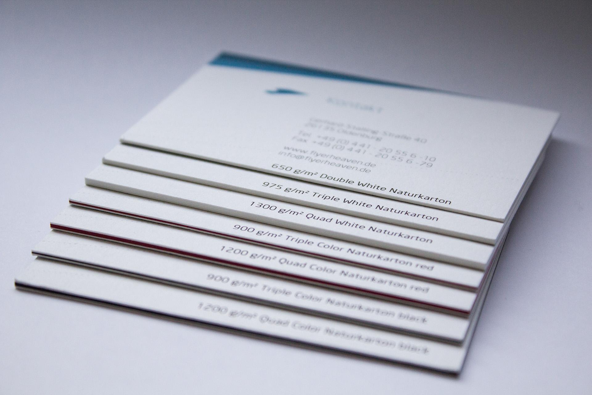 Papier Für Visitenkarten Flyerheaven De