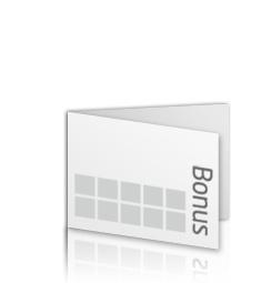 Bonuskarte Visitenkartenformat 4 Seitig Quer Flyerheaven De